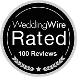 Rev. Kelly Jo Singleton Wedding Wire 100 Reviews Badge
